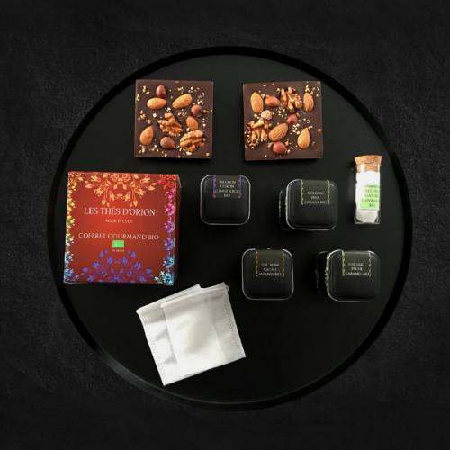 coffret cadeau thé et chocolat pour noël, coffret de thé bio à offrir, coffret thé cadeau pas cher, coffret thé bio en vrac pas cher, les thés d'orion