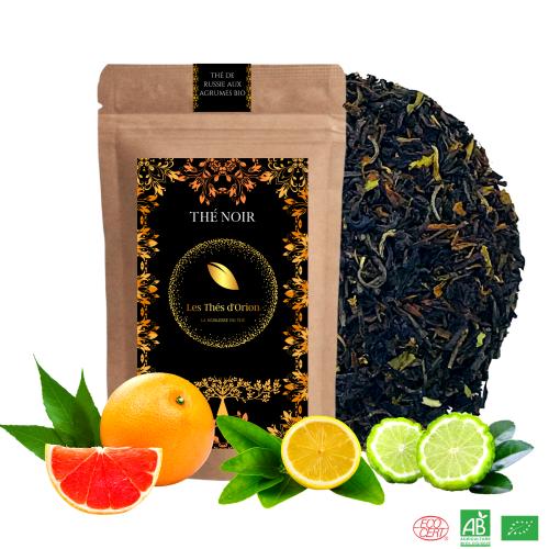 the noir russe aux agrumes bio, the noir fruite, les thes d orion